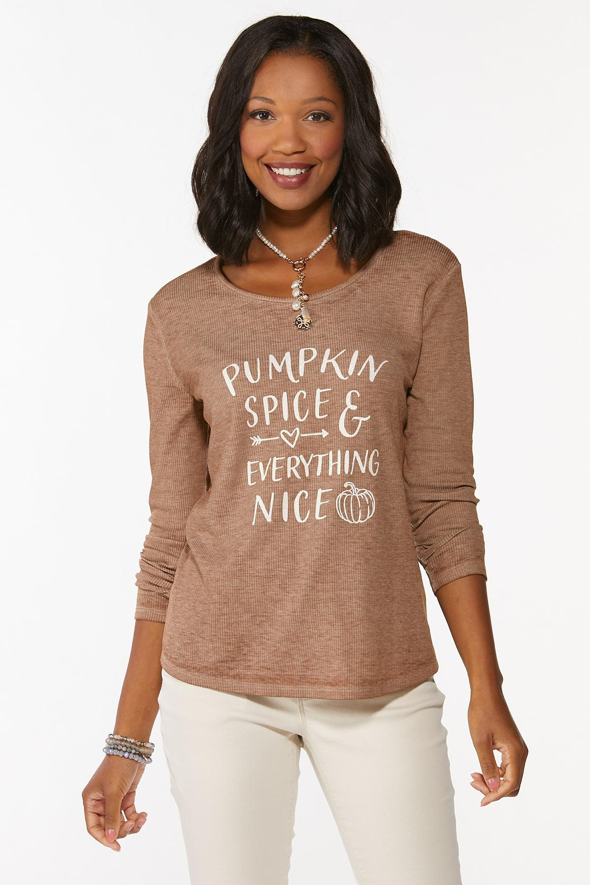 Plus Size Pumpkin Spice Everything Top
