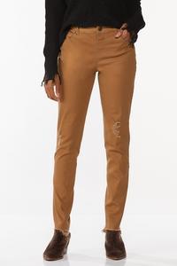 Distressed Brown Skinny Jeans
