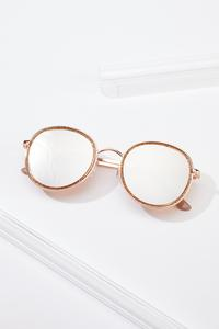 Rose Gold Glittery Sunglasses