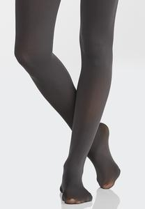 Plus Size Solid Opaque Tights