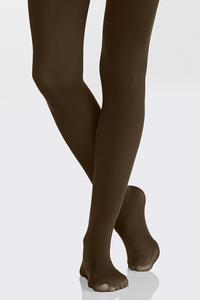 Plus Extended Solid Opaque Tights