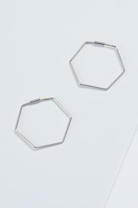 Thin Octagon Hoop Earrings