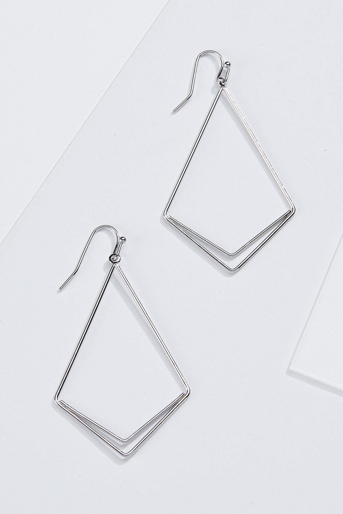Wire Diamond Earrings