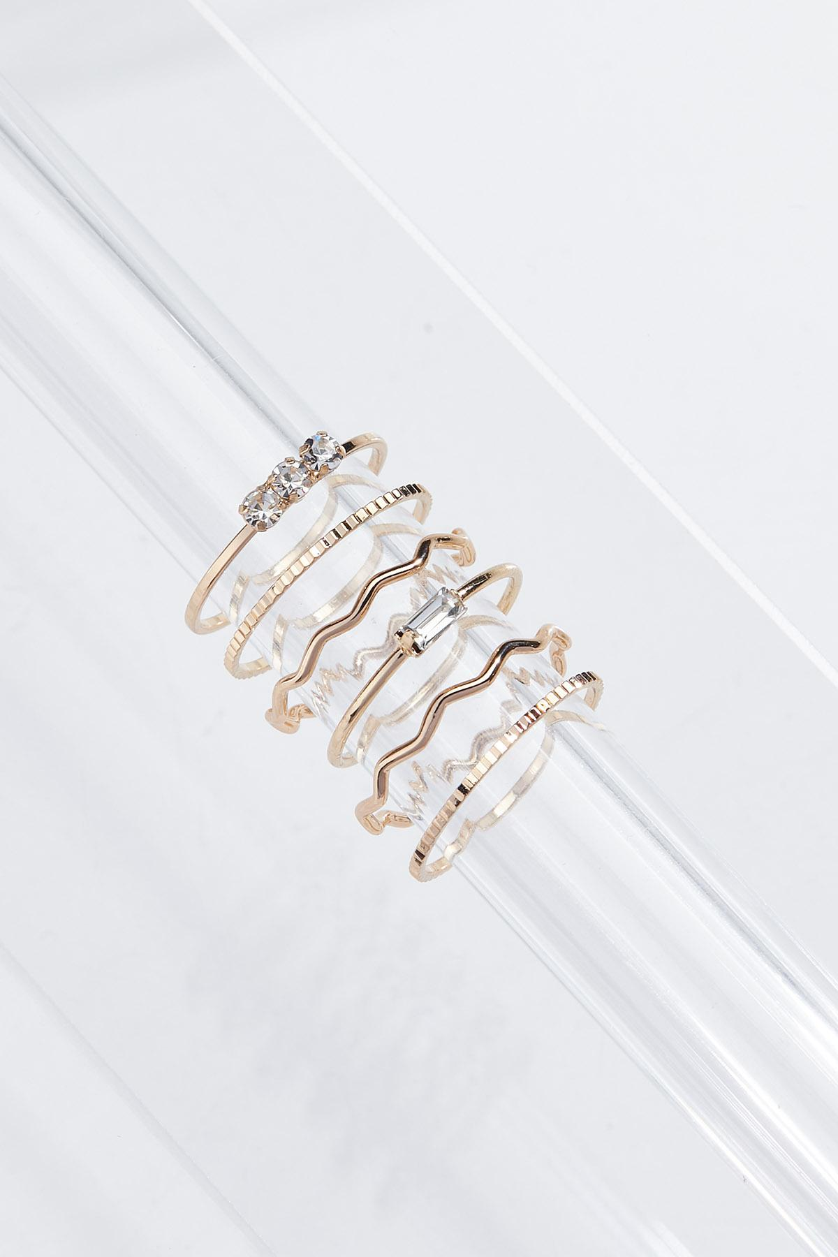 Delicate Gold Ring Set