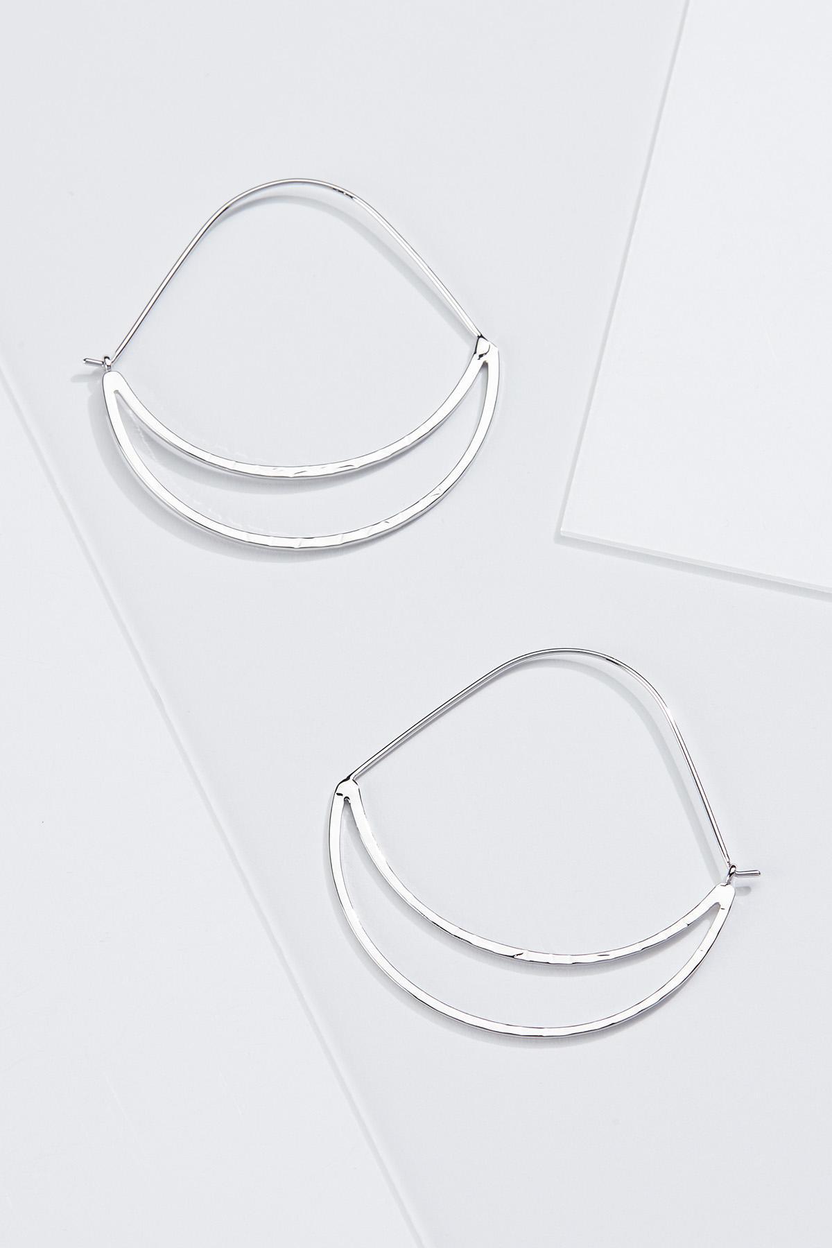 Open Crescent Hoop Earrings