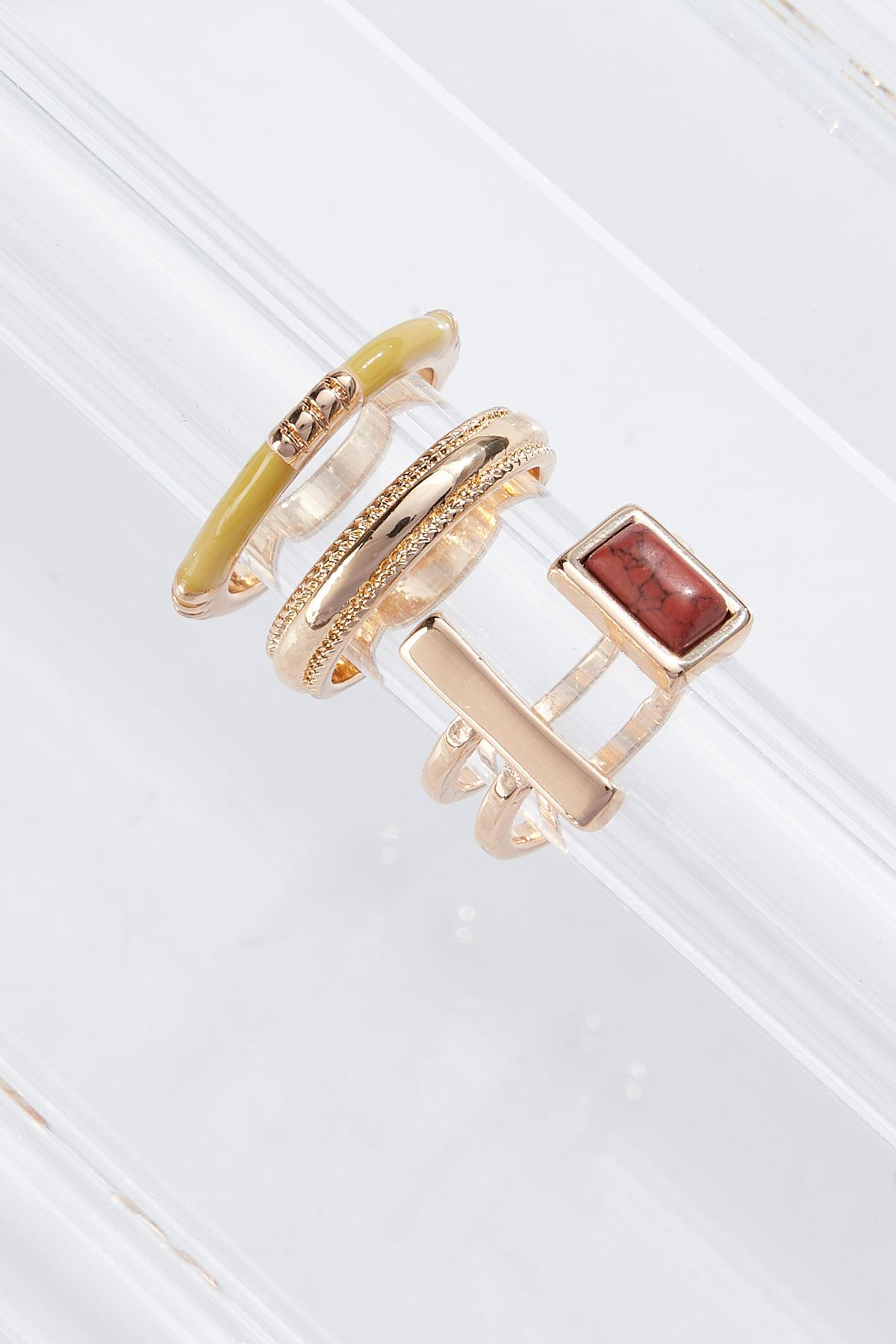 Semi-Precious Ring Set