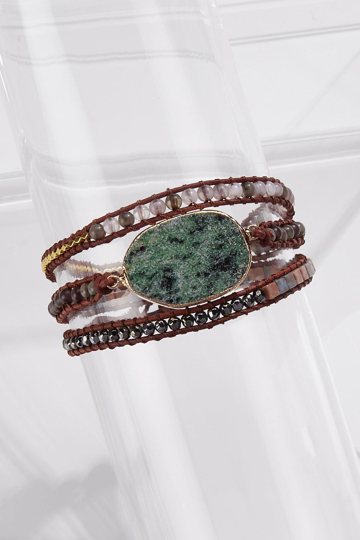 Stone Bead Wrap Bracelet