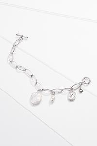Pearl Charm Link Bracelet