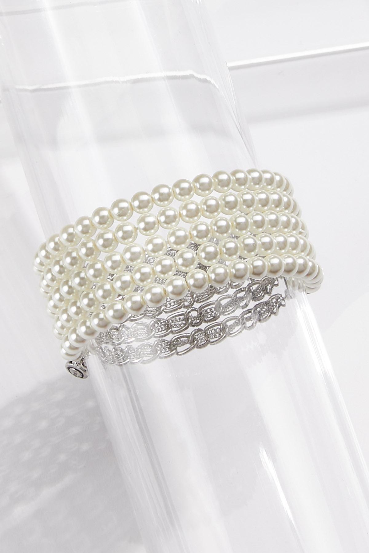 Layered Glam Stretch Bracelet