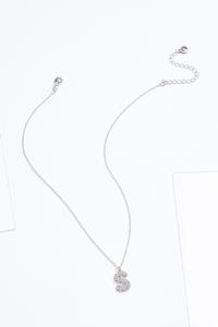 Rhinestone S Pendant Necklace