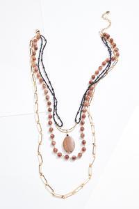 Layered Boho Bead Necklace