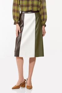 Faux Colorblock Skirt