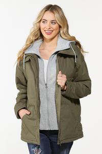 Fleece Lined Twill Jacket