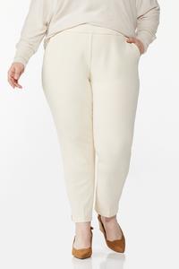 Plus Size Slim Pull-On Pants