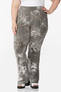 Plus Size Tie Dye Flare Pants