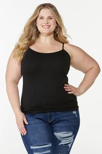 Plus Size Seamless Solid Cami