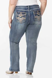 Plus Size Embellished Curvy Jeans