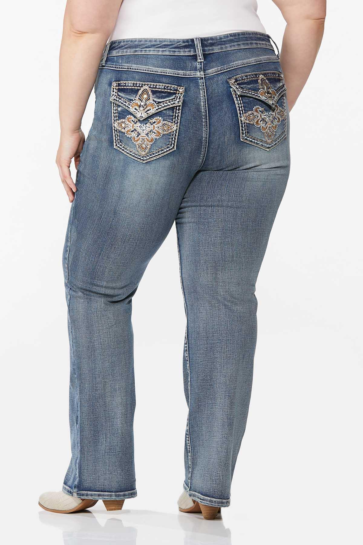 Plus Petite Embellished Curvy Jeans