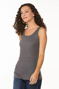 Plus Size Heathered Solid Tank