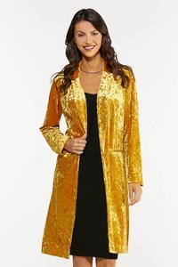 Plus Size Gold Velvet Topper
