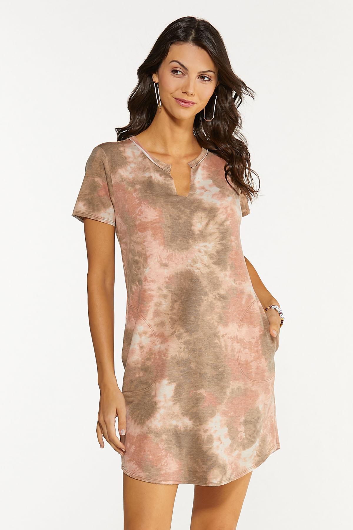 Plus Size Blush Dye French Terry Dress