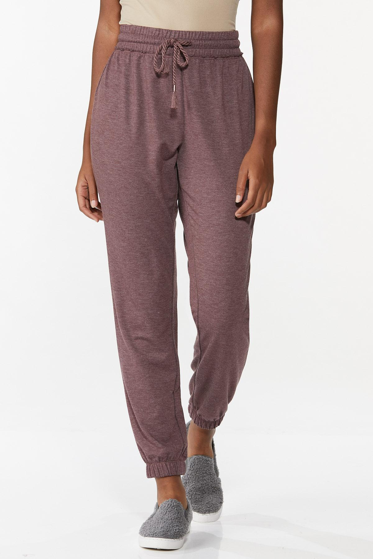 Wine French Terry Joggers