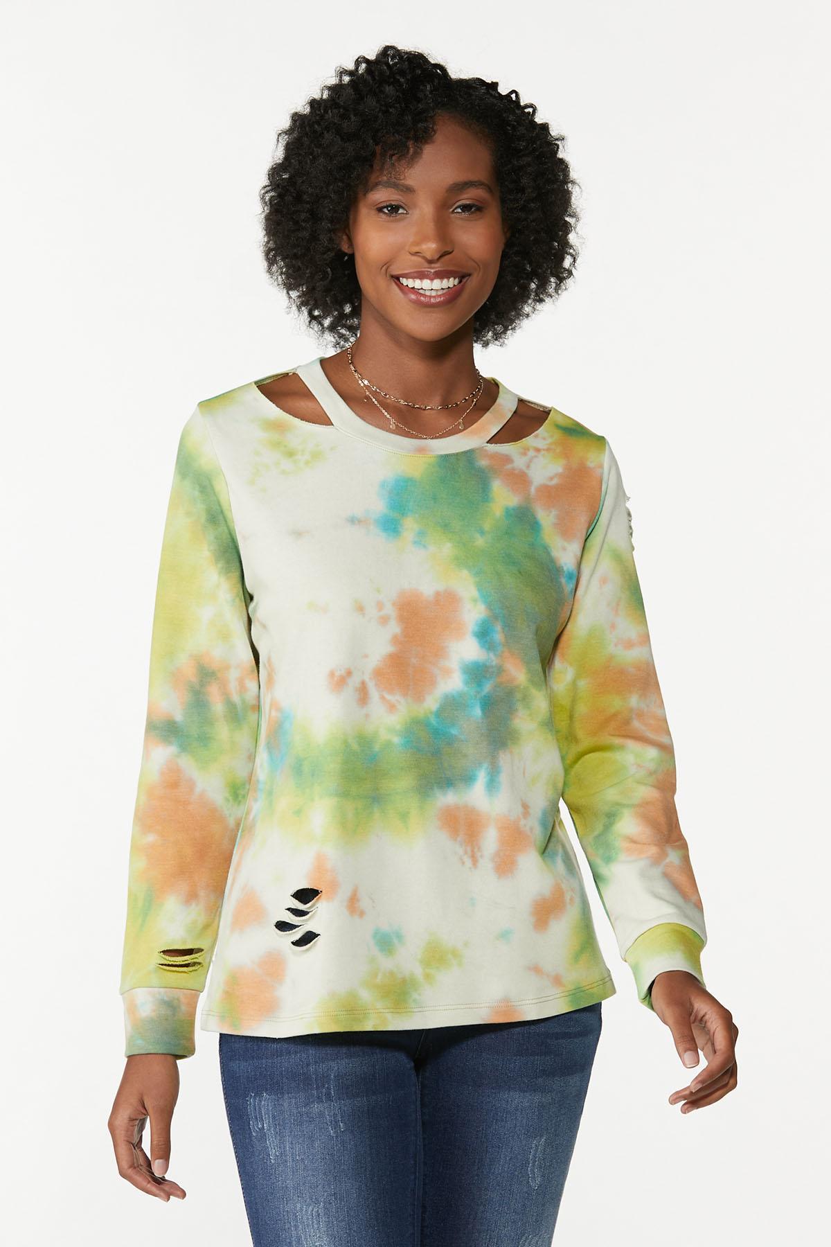 Cutout Tie Dye Sweatshirt