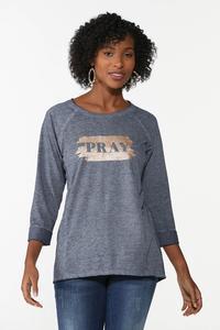 Glittery Pray Sweatshirt