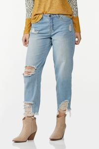 Curvy Destructed Ankle Jeans