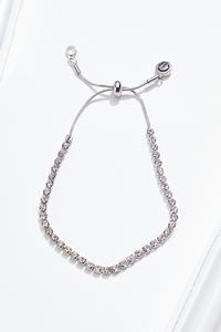 Rhinestone Pull-String Bracelet