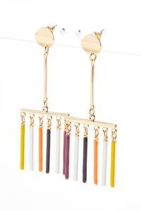 Colorful Enamel Bar Earrings