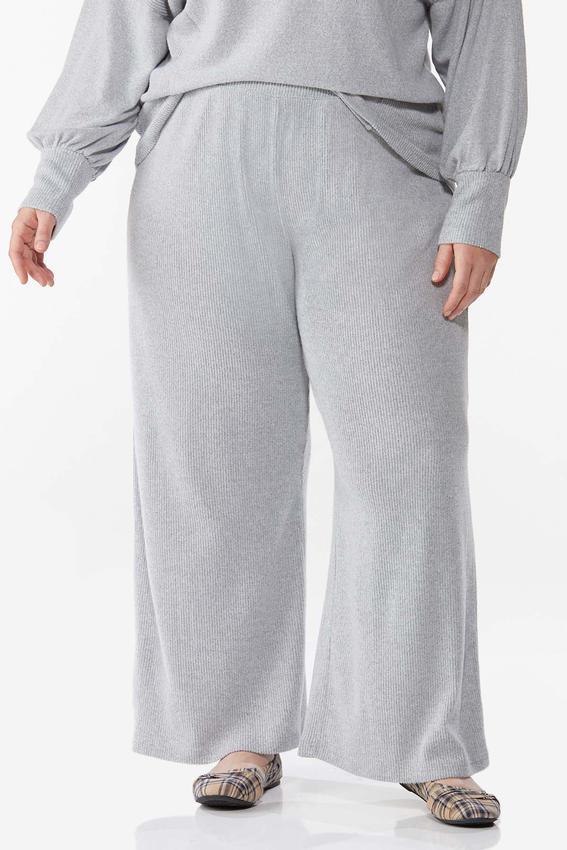 Plus Size Soft Ribbed Pants