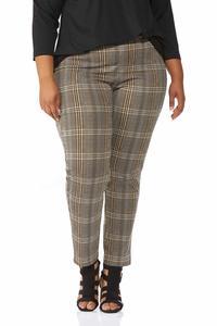 Plus Size Plaid Pants