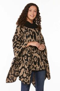 Leopard Printed Poncho