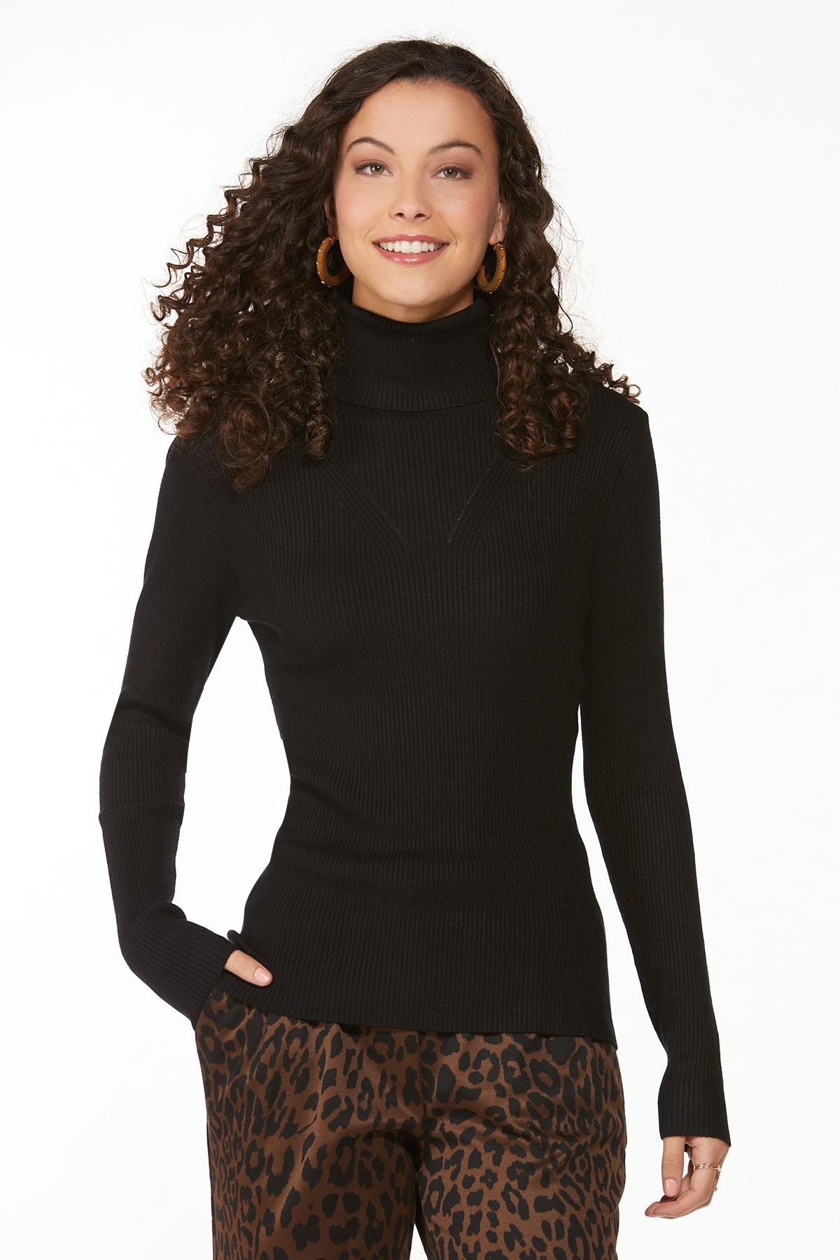 Ribbed Turtleneck Sweater