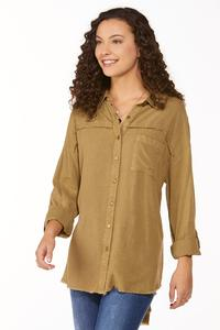 Frayed High-Low Tunic