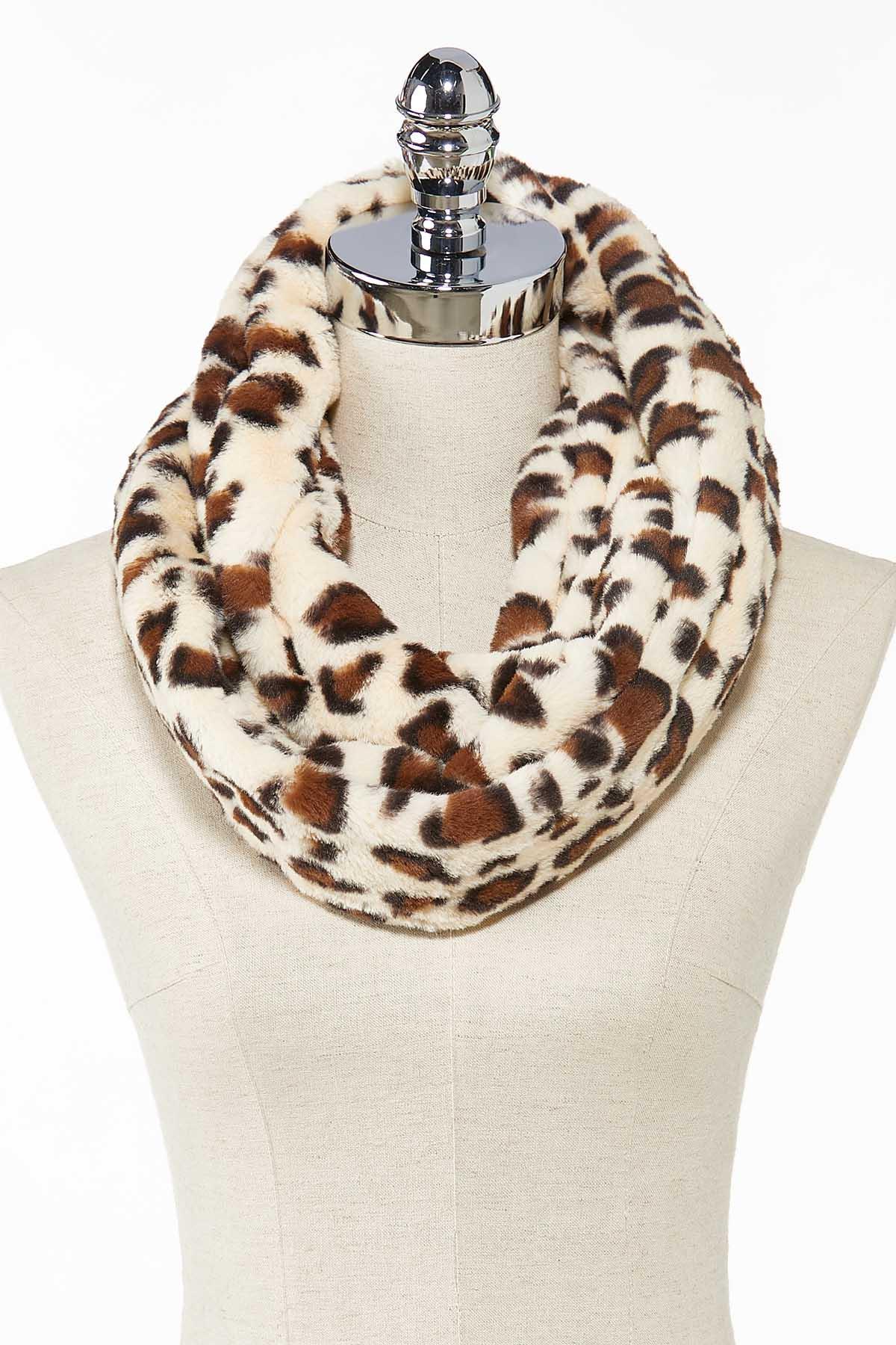 Fuzzy Leopard Scarf