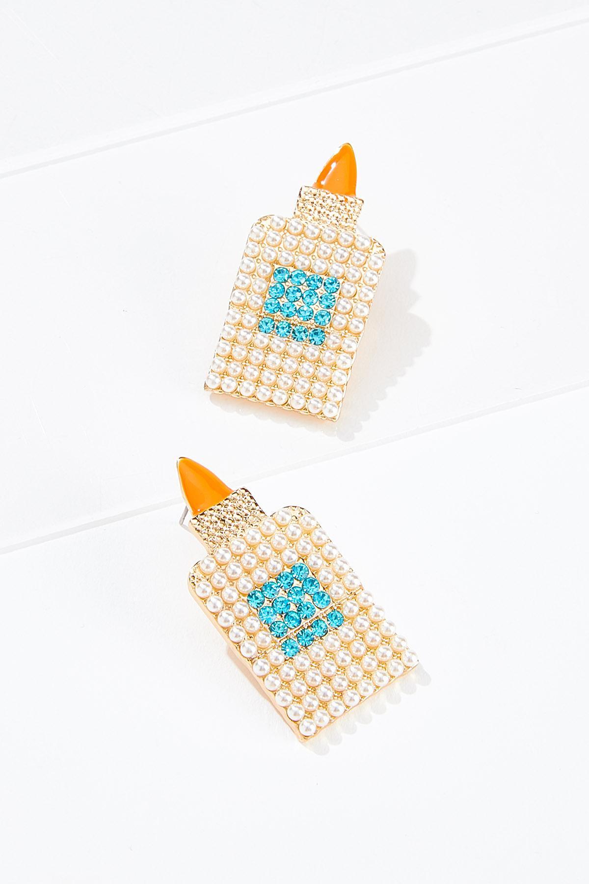 Glue Bottle Beaded Earrings