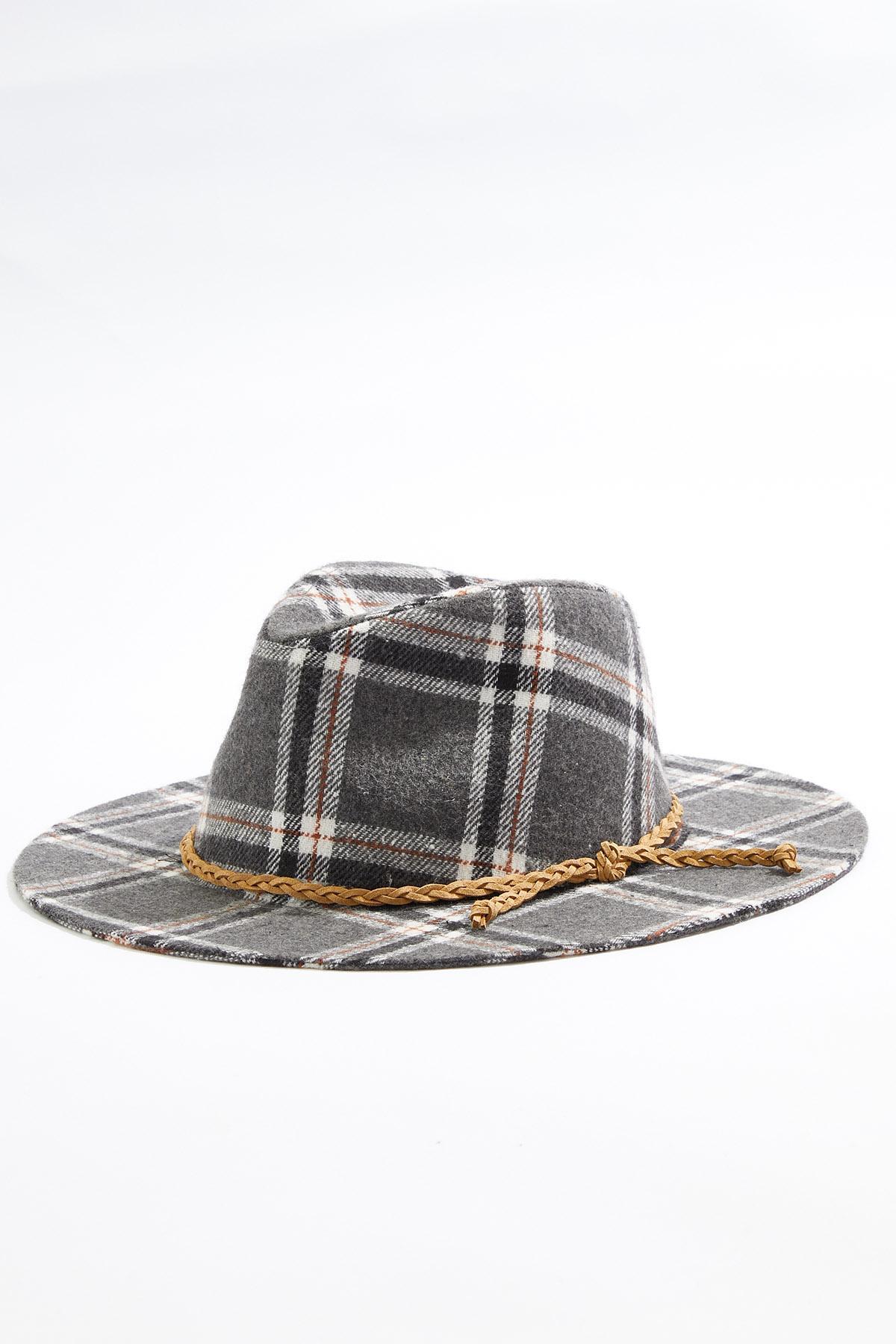 Soft Plaid Panama Hat