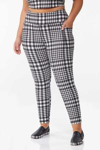 Plus Size Checkered Active Leggings