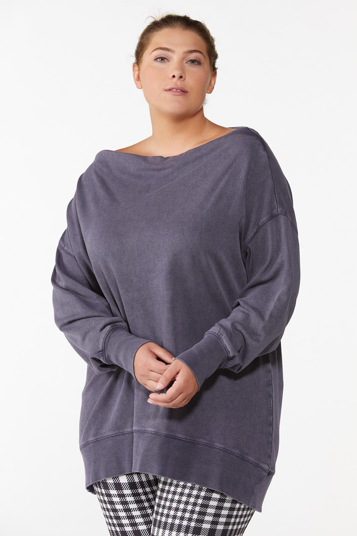 Plus Size Slouch Oversized Sweatshirt
