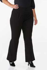 Plus Size Solid Flare Pants