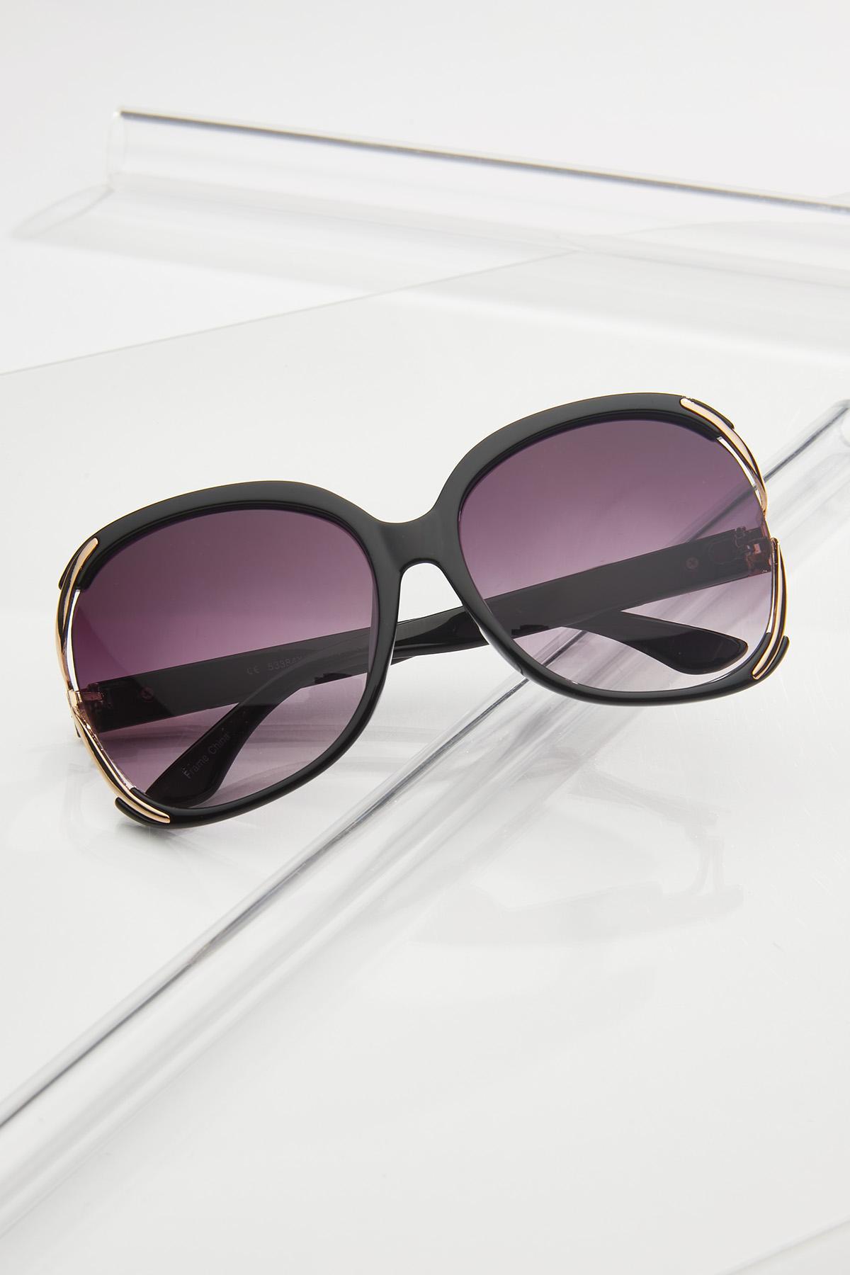 Vented Black Sunglasses