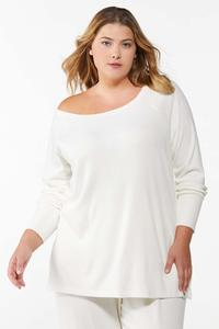Plus Size Ribbed Lounge Top