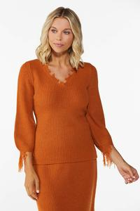 Distressed Orange Sweater