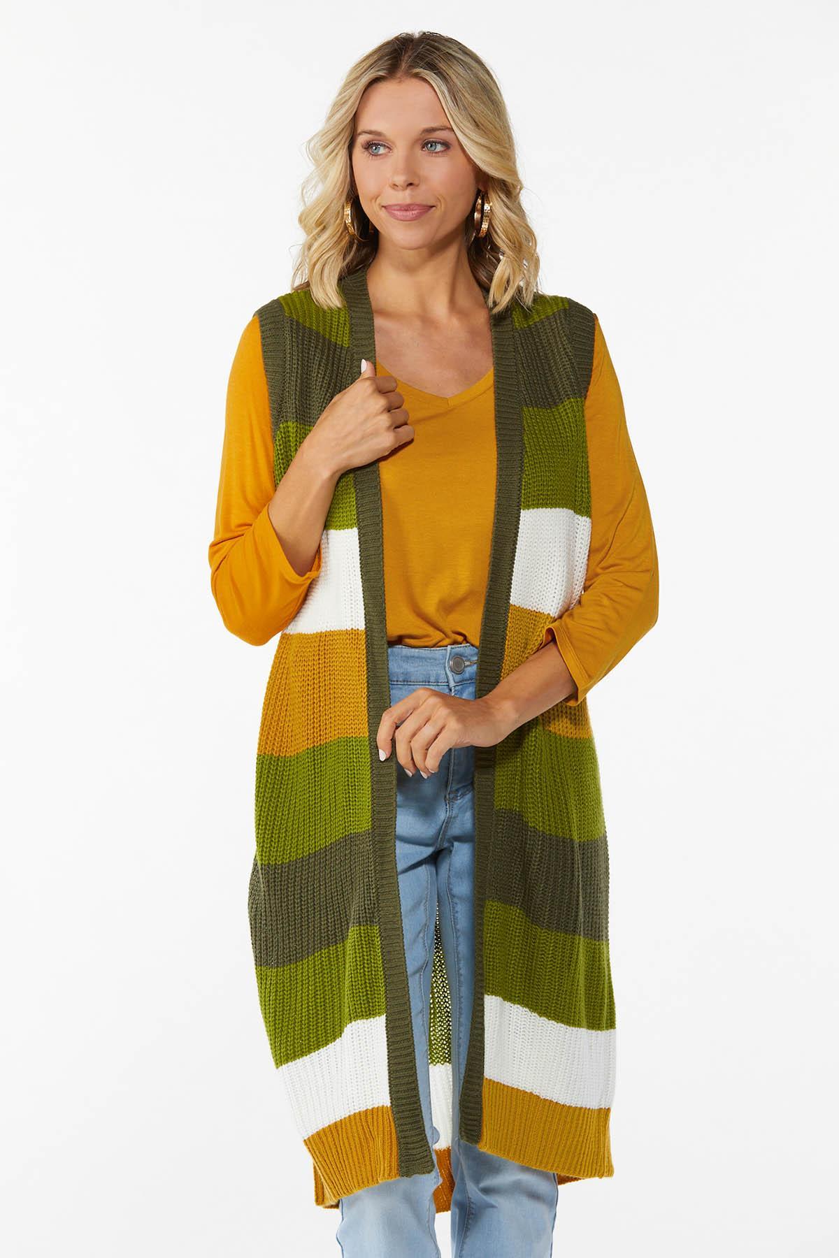 Stripe Down To Earth Sweater Vest