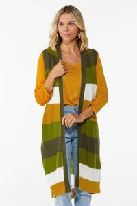 Plus Size Stripe Down To Earth Sweater Vest