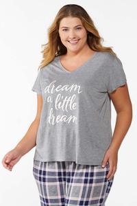 Plus Size Dream A Little Dream Tee