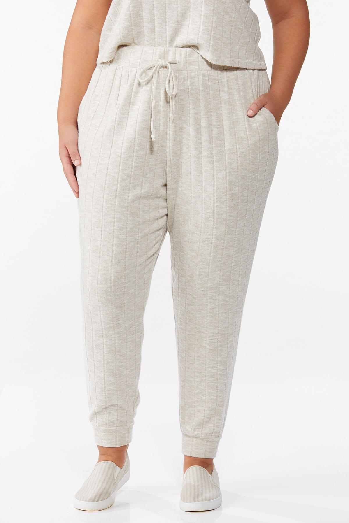Plus Size Cozy Ribbed Pants