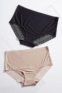 Lace Trim Panty Set